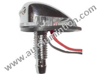 Chrome Windshield Washer with Leds Nozzle