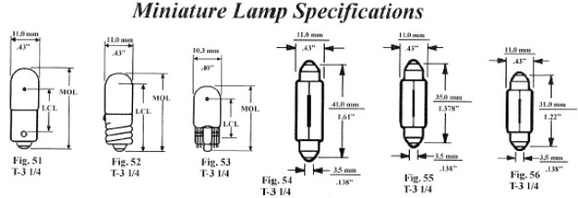 Festoon Bulb Sizes Chart Best Picture Of Chart Anyimage Org