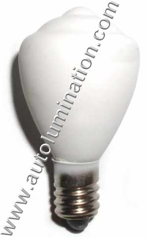 451 White Painted Glass Lionel Street Light Bulb