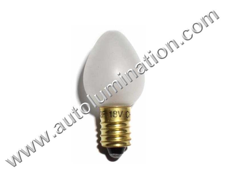 1442 C6 E10 18V Frosted Glass Street Light Incandescent Bulb