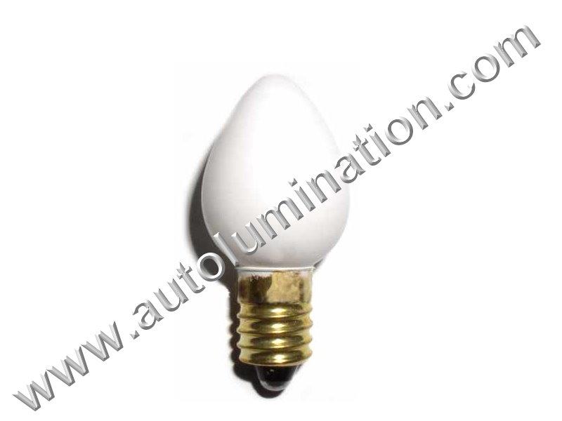1442 C6 E10 18V White Glass Street Light Incandescent Bulb