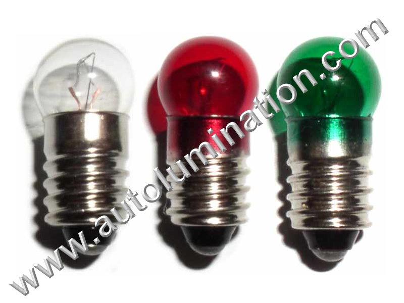 1447 G3-1/2 E10 18V Dyed Glass Incandescent Bulb