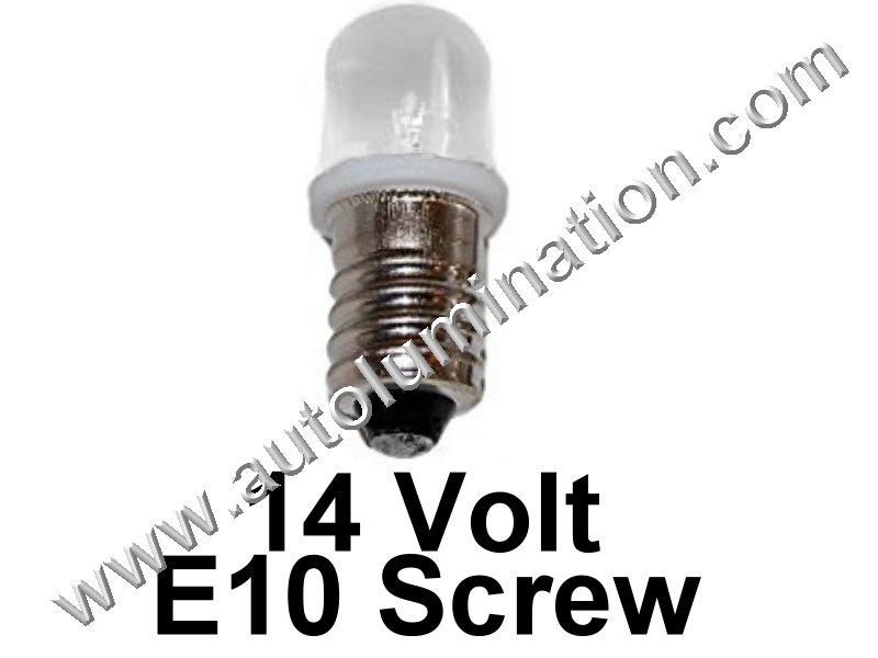 1449 G3-1/2 E10 14V Frosted Led Bulb