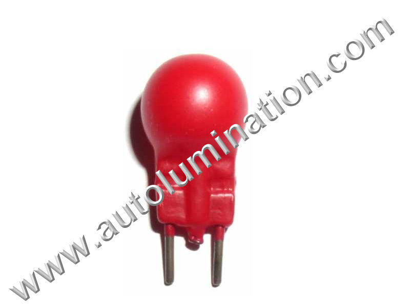 19 G3-1/2 Bi-Pin 14.4V Red Glass Bi Pin Base Light Incandescent Bulb