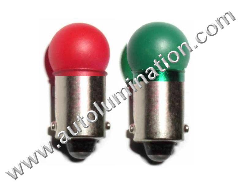 2445 G3-1/2 Ba9s 24V Painted Glass Incandescent Bulb