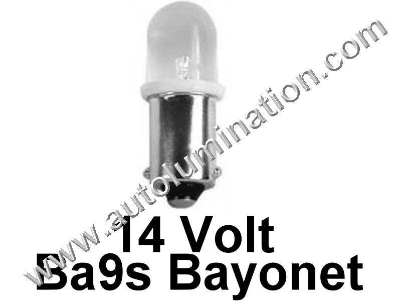 363 G3-1/2 Ba9s 14V Frosted Led Bulb