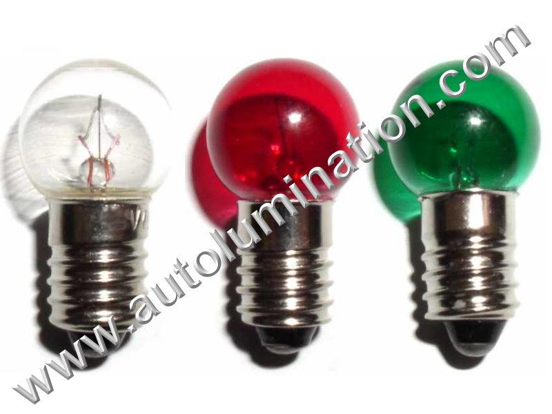 432 G4-1/2 E10 18V Dyed Glass Incandescent Bulb