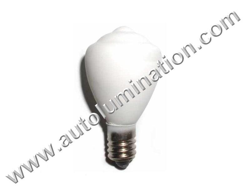 451 X8 E10 18V White Glass Street Light Incandescent Bulb