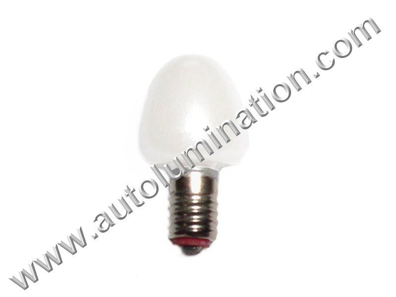 452 X4.4 E5.5 14V Pearl Glass Street Light Incandescent Bulb