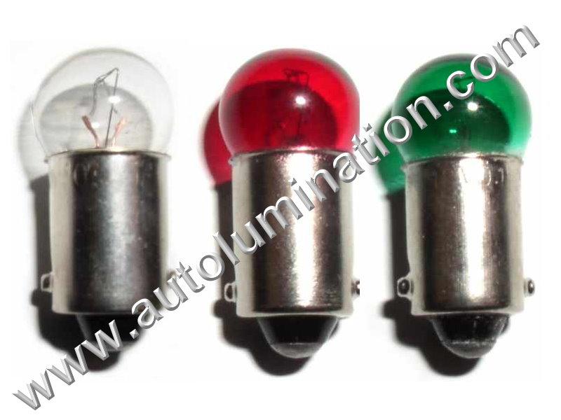 53 G3-1/2 Ba9s 14.4V Dyed Glass Incandescent Bulb