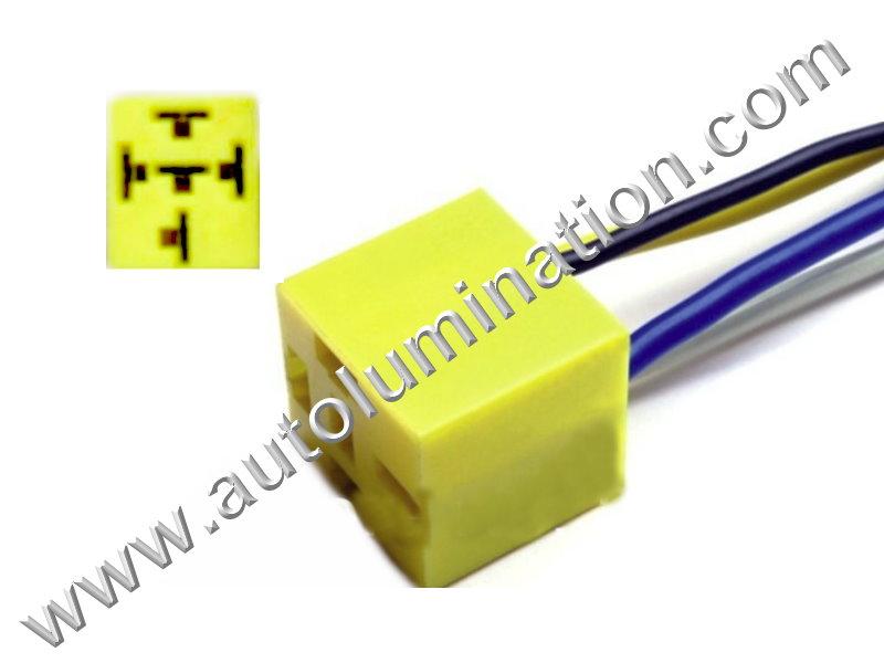 5pin relay soket heat resistance contacto headlight holder plug 10cm wire