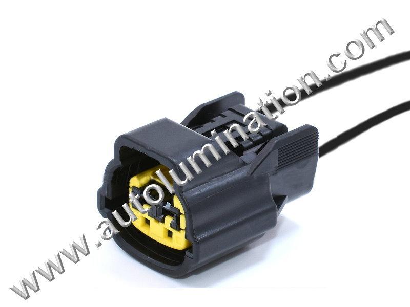 Pigtail Connector with Wires 358250211 Horn Hyundai Kia CKK7024B-2.2-21  L51B2Light Bulbs