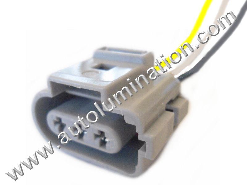 3 way vw audi fuel injectore connector o2 oxygen sensor connector harness 6