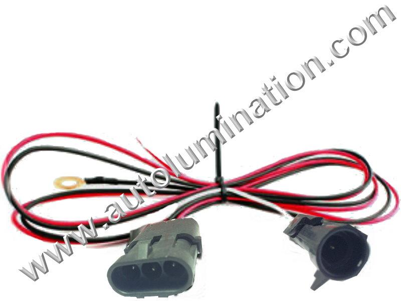 TPI TBI 3 Wire Heated Oxygen O2 Sensor Wiring Harness ... O Sensor Connector Wiring Harness Engine on