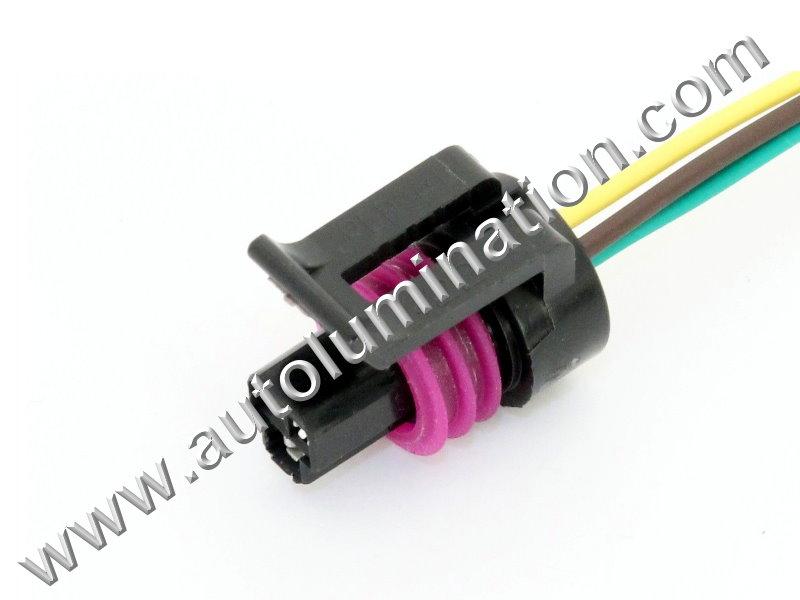 Autolumination   ls1 97 98 gm corvette coolant fan radiator pigtail ...