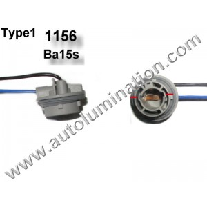 Ba15s Bayonet Single Circuit Zinc Plastic Plated Steel Twist Lock Pigtail Connector Socket Receptacle Type 1 16 Gauge