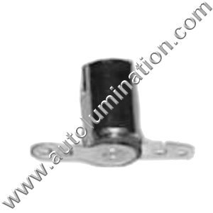 Ba9s Zinc Plated Steel  Ba9s Bayonet Single Circuit Steel Bulb Socket Receptacle
