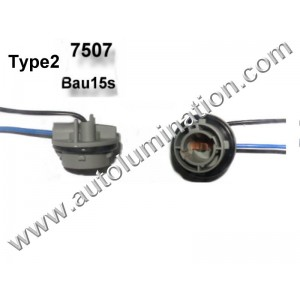 Bau15s Bayonet Single Circuit Zinc Plastic Plated Steel Twist Lock Pigtail Connector Socket Receptacle Type 2 16 Gauge