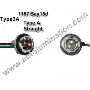 Bay15d Bayonet Dual Circuit Zinc Plastic Plated Steel Straight Twist Lock Pigtail Connector Socket Receptacle Type 3A 16 Gauge