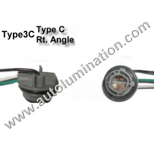 Bay15d Bayonet Dual Circuit Zinc Plastic Plated Steel Right Angle Twist Lock Pigtail Connector Socket Receptacle Type 3C 16 Gauge