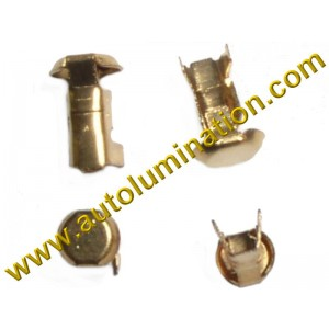Bayonet Button Contact Only Tin-Brass 16 Gauge Ba15s, Bay15d, Ba15d, Baz15d, Bau15s, Ba9s 16 Gauge