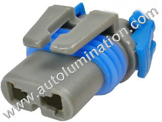 9006 Female Plastic Headlight Connector Shell Only 16 Gauge