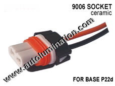 9006 Female Ceramic Headlight Pigtail Connector 16 Gauge