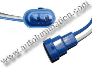 9006 Male Plastic Headlight Pigtail Connector 16 Gauge