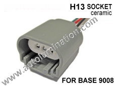 h13 female ceramic headlight pigtail connector 16 Gauge