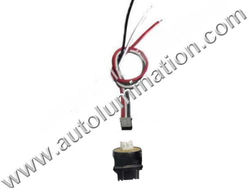 3157 T25 Wedge Plastic standard bulb bases with a plug in 2wire pigtail 6in 18 gauge wires