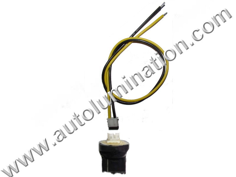 7440 T20 Wedge Plastic standard bulb bases with a plug in 2wire pigtail 6in 18 gauge wires