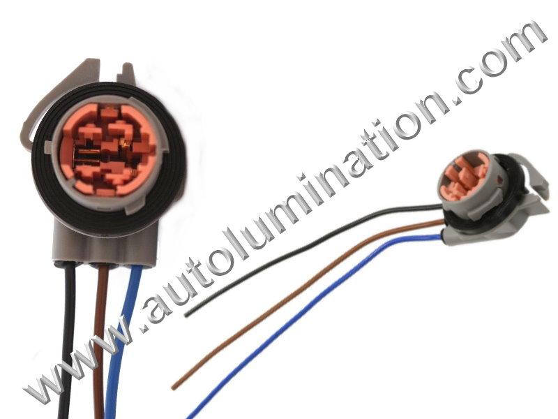 Tailight Turn Signal Parking Light Socket Connector GM Chevrolet 12159662, 19260086, PT2775, 12159662, 19260086, 88862200, ls260, ls54